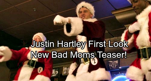 The Young and the Restless Star Justin Hartley is A Sexy Santa In New Bad Moms Christmas Teaser Video