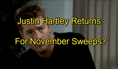 The Young and the Restless Spoilers: Justin Hartley Returns for November Sweeps - Adam Newman Learns Christian Alive On GC Buzz