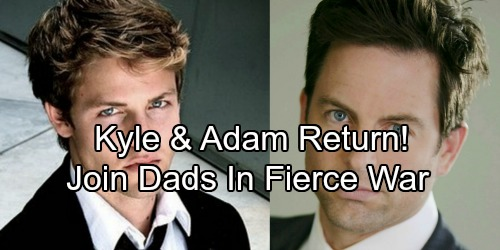 The Young and the Restless Spoilers: Adam and Kyle Back for Fierce War – Victor and Jack Need Their Sons More Than Ever