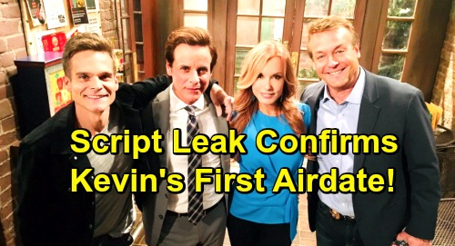 The Young and the Restless Spoilers: Kevin Fisher Script Leak Confirms Greg Rikaart's First Airdate