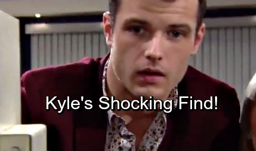 The Young and the Restless Spoilers: Dina Leads Kyle To Big Secret at Jabot - Secret Safe Reveals Shocker