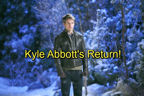 The Young and the Restless Spoilers: Kyle Abbott's Return Teased – Jack's Son Home To Genoa City Soon?