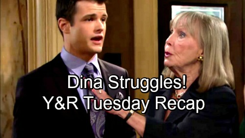 The Young and the Restless Spoilers: Tuesday, August 28 Recap - Trap Set For Billy - Dina Struggles