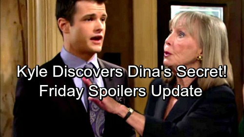 The Young and the Restless Spoilers: Friday, April 20 Update – Kyle Discovers Dina's Secret – Helen Takes Victor Home, Nikki Freaks