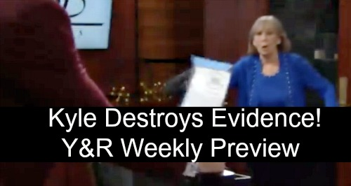 The Young and the Restless Spoilers: Week of October 22 Preview – Lily's Escape Plot – Kyle Tries to Destroy Dina's Evidence