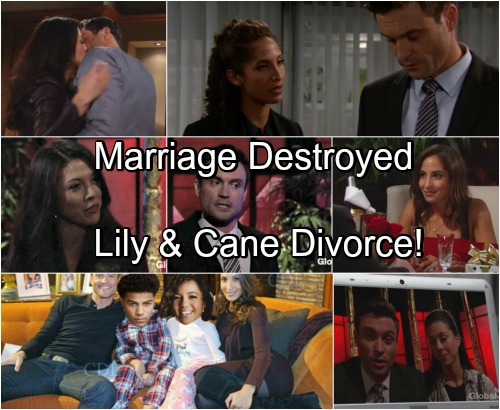 The Young and the Restless Spoilers: Lily and Cane Divorce - Juliet and SORAS Children Combine To Destroy Marriage