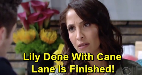 The Young and the Restless Spoilers: Lane's Divorce Becomes A Reality – Lily and Cane Finished and Leaving Town?
