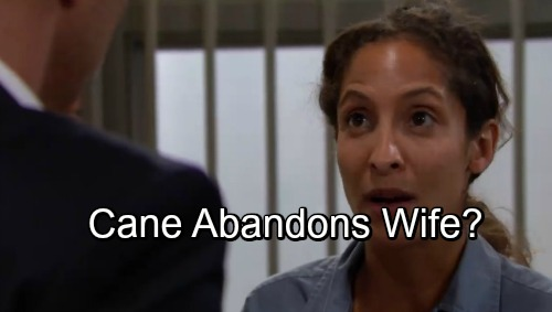 The Young and the Restless Spoilers: Lane In Danger of Dissolving – Cane Abandons Inmate Wife?