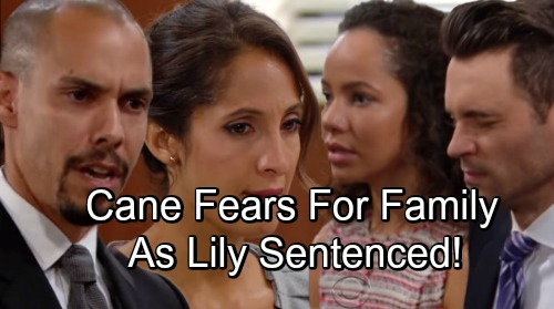 The Young and the Restless Spoilers: Cane Fears For Family As Lily Sentenced – Devon Hides Behind Hilary's Shadow