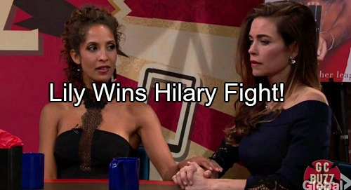 The Young and the Restless Spoilers: Lily Puts Down Hilary - Lets Hilary Know She's Only Second Best