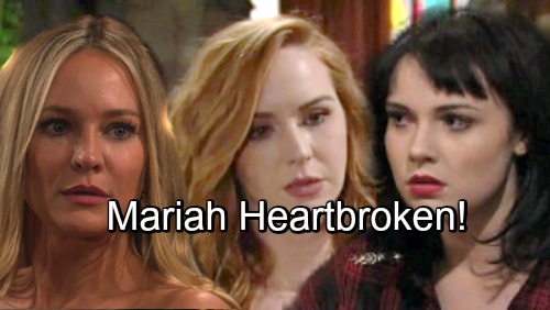 The Young and the Restless Spoilers: Mariah Faces Heartbreaking Bombshells – Sharon and Tessa's Secrets Unravel, Betrayals Cut Deep