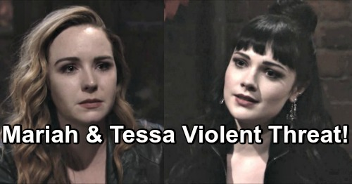 The Young and the Restless Spoilers: Mariah and Tessa Attacked With A Brick - Discover Threatening Message From Violent Enemy