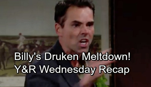 The Young and the Restless Spoilers: Wednesday, September 26 – Drunk Billy Goes Berserk – Sharon's Party Crashers – Confession Drama