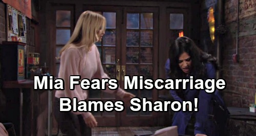 The Young and the Restless Spoilers: Mia Fears Miscarriage After Conflict Erupts – Blames Sharon for Danger to Baby Rosales