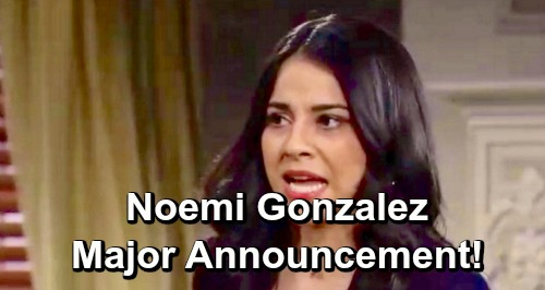The Young and the Restless Spoilers: Noemi Gonzalez Reveals Huge Career News – Major Announcement About What's Next