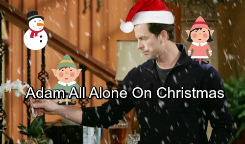 The Young and the Restless Spoilers: Adam Newman Alone on Christmas – Will Y&R Bring Him Back To Genoa City In 2018?