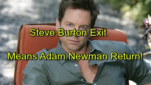 'The Young and the Restless' Spoilers: Steve Burton Exit Means Adam Newman Slot Must Be Filled - Recast or Rehire?