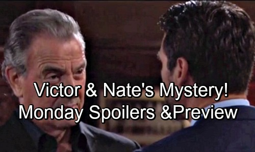 The Young and the Restless Spoilers: Monday, August 6 – Nate and Victor's Mystery – Sharon Resists Nikki – Summer Gets Bold