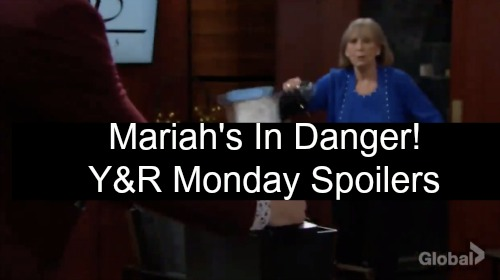 The Young and the Restless Spoilers: Monday, October 22 – Mariah's in Danger – Rey Isn't Scared of Nick – Dina Thwarts Kyle's Plan