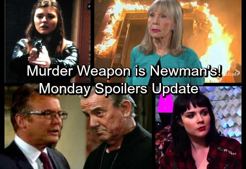 The Young and the Restless Spoilers: Monday, November 27 Update - Crystal's Gun Came From A Newman – Fire Proof Leads Nick to Dina