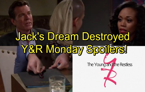 The Young and the Restless Spoilers: Monday, May 7 – Jack's Dreams Destroyed – Sharon Seduces Nick – Hilary's Confession