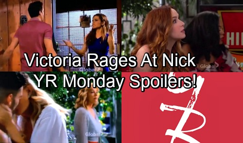 The Young and the Restless Spoilers: Monday, May 28 – Victoria Says Nick's Playing Dirty – Kyle's Naked Mishap – Nikki Shocked