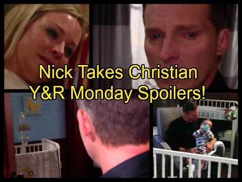 The Young and the Restless Spoilers: Dylan Surrenders Christian To Nick - Sharon and Dylan Sob In Heartbreak