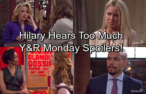 The Young and the Restless Spoilers: Monday, April 30 – Hilary Hears About J.T.'s Murder – Devon Deceived Again