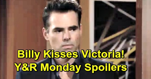 The Young and the Restless Spoilers: Monday, April 8 – Billy Kisses Victoria, Pleads for New Chapter – Sharon Decides Shey's Fate