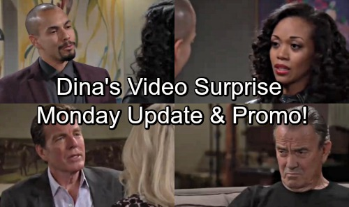 The Young and the Restless Spoilers: Monday, May 7 Preview – Dina's Video Surprise – Devon Shocks Hilary – Shick Passion Erupts