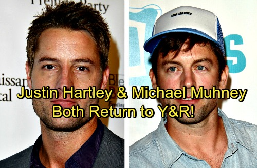 The Young and the Restless Spoilers: Justin Hartley and Michael Muhney Both Seen On Y&R Again – Christian is Gabriel's Child