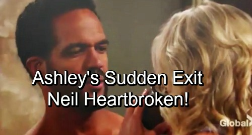 The Young and the Restless Spoilers: Neil Devastated When Ashley Leaves - Sudden Departure Leads To Heartbreak