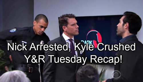 The Young and the Restless Spoilers: Tuesday, September 11 Update – Nick Arrested at Dark Horse Launch – Summer Breaks Kyle's Heart