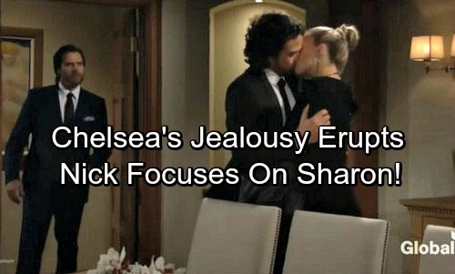 The Young and the Restless Spoilers: Chelsea's Jealousy Erupts - Nick Fixates on Sharon After Catching Scott Kissing Abby