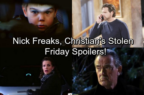 The Young and the Restless Spoilers: Friday, February 23 – Nick Freaks Over Christian's Abduction – Chelsea Faces Victor's Wrath