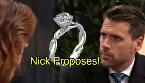 The Young and the Restless Spoilers: Nick Proposes, Whirlwind Phick Romance Continues – Phyllis Realizes She's a Sharon Stand-In