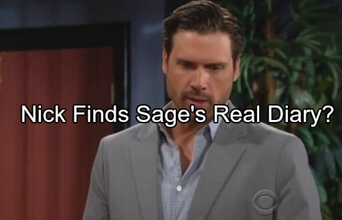 The Young and the Restless Spoilers: Nick Investigates, Discover Sage's Real Diary - Saves Brother Adam?