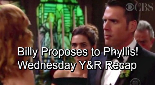 The Young and the Restless Spoilers: Wednesday, October 3 Update – Billy's Proposal Stuns Phyllis – Mariah's Runaway Bride Search