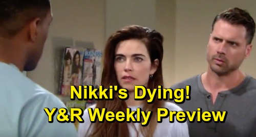 The Young and the Restless Spoilers: Shocking Weekly Preview Promo – Nate Fears Nikki's Dying – Nick Wants Driver to Pay, Reed Panics
