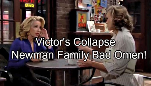 The Young and the Restless Spoilers: Victor's Collapse a Bad Omen - J.T.'s Corpse Threatens Newman Family