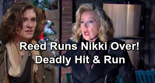 The Young and the Restless Spoilers: Reed Runs Down Drunk Nikki In Hit-and-Run Crash - Grandma Struggles To Survive