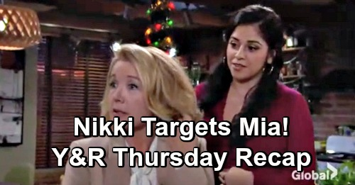 The Young and the Restless Spoilers: Thursday, December 13 Recap – Nikki Targets Mia – Devon and Lola Get Duped