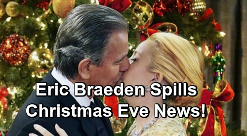 The Young and the Restless Spoilers: Eric Braeden Announces Christmas Eve News - Victor's Return Saves Nikki