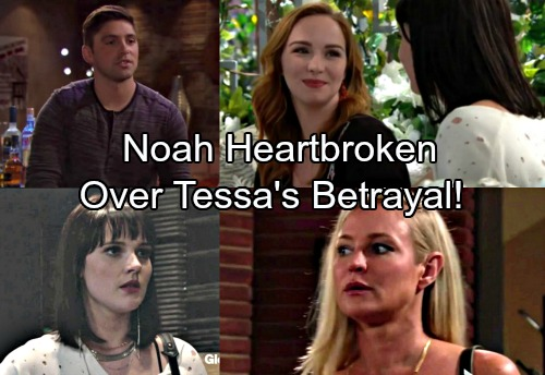 The Young and the Restless Spoilers: Noah Heartbroken Over Betrayal – Mariah and Tessa's Secret Exposed, Sharon Caught in Drama