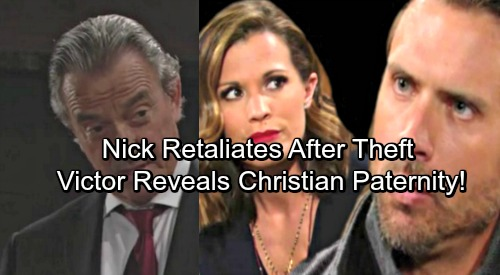 The Young and the Restless Spoilers: Nick Retaliates After Theft – Victor Unleashes Secret Weapon, Christian's Paternity Exposed