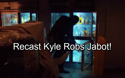 The Young and the Restless Spoilers: Recast Kyle's Behind Jabot Break-in - Revenge Plot Revealed