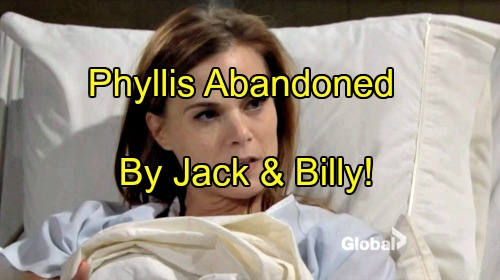 The Young and the Restless Spoilers: Phyllis Abandoned By Jack and Billy - Cheater Gets What She Deserves?