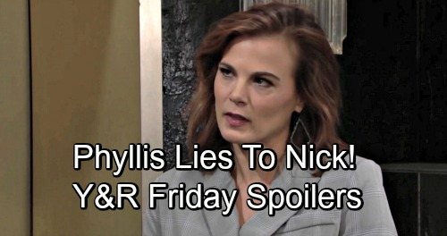 The Young and the Restless Spoilers: Friday, November 30 – Phyllis Hides the Truth from Nick – Billy and Kyle's Nasty Takedown Plot