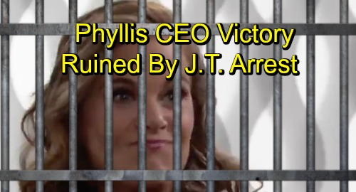 The Young and the Restless Spoilers: Phyllis' CEO Victory Ruined by J.T. Murder Arrest – Jabot Struggles to Survive