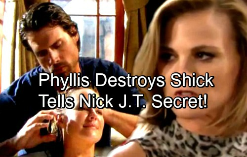 The Young and the Restless Spoilers: Phyllis Divulges J.T. Secret to Nick, Destroys Sharon's Revived Romance